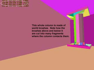 This picture shows a normal column with no polygon reduction efforts made.