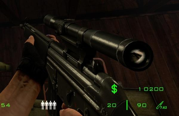 A phong shaded model. The fresnel values were copied from the smg1 in HL2.