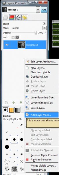 "Select ""Add Layer Mask"""