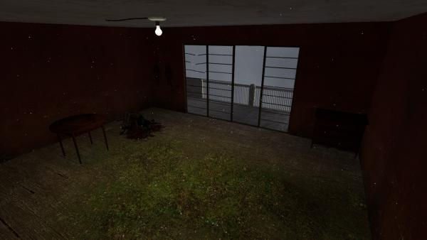 A very simple scene showing how blend textures can be used to help give a sense of abandonment and overgrowth.