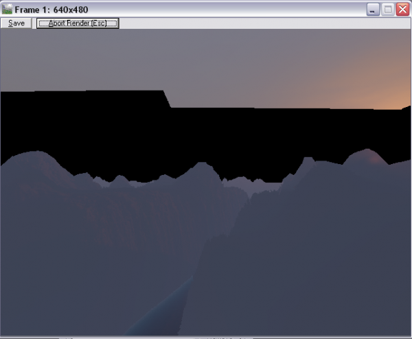 The render viewport will start black and reveal more of the enviroment as it is rendered.