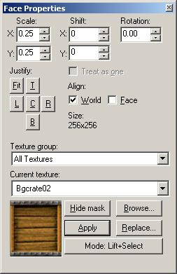 Texture scaled in Hammer