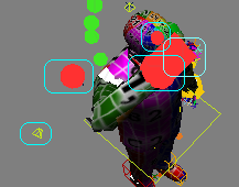 Controls to position right arm