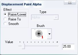 The Paint Alpha tool