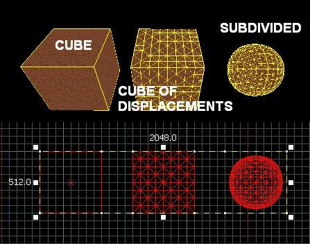 Subdivide can easily create complex surfaces.